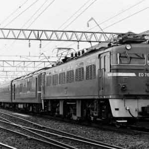 1980年に宮崎駅付近で撮影したED76