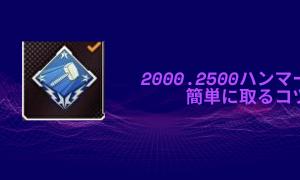 [APEX]簡単に2000・2500ハンマーを取るコツ