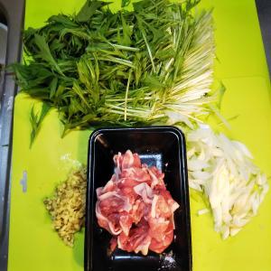 20/11/27日記  メインは[水菜と豚肉のはりはり]   グルコサミンが我が家にやって来た😅