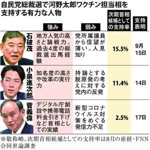 派閥の論理で岸田総裁・総理誕生か