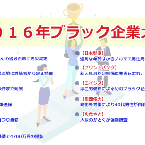 【2016年ブラック企業大賞】「電通」高橋まつりさんの過労自殺
