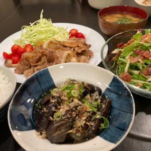 【昨日の晩ごはん☆しょうが焼き定食♪】