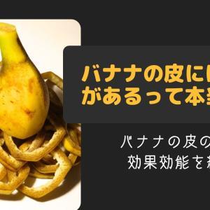 バナナの皮には毒性があるって本当?バナナの皮の成分や効果効能を紹介!