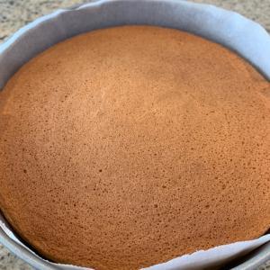 スポンジケーキを焼いた 小嶋ルミさんレシピ