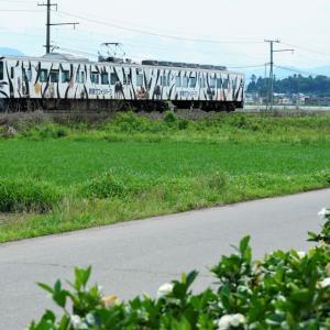 上信電鉄のカラフルな車両ー2021年7月10日ー