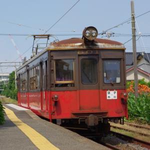 懐かしの銚子電鉄デハ801と仲ノ町車庫