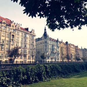 プラハの景色とŽofin公園で驚きのアイディア賞