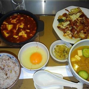 日ノ出町 やよい軒 回鍋肉と麻婆豆腐定食