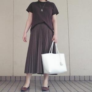 UNIQLO新作プリーツスカートコーデ/楽天で買ったネックレスが良かった♡