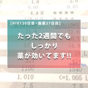 【HIV120日目・服薬27日目】たった2週間でもしっかり薬が効いてます!!