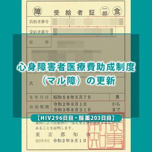 【HIV296日目・服薬203日目】心身障害者医療費助成制度(マル障)の更新