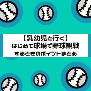 【乳幼児と行く】はじめて球場で野球観戦するときのポイント