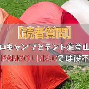 【読者質問】ソロキャンプとテント泊登山にTFS PANGOLIN2.0は役不足ですか?