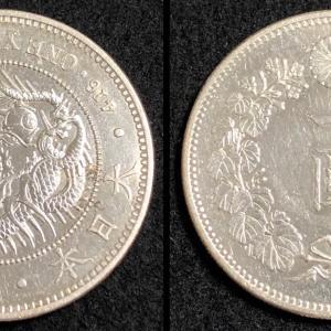 日本 明治18年 新1円銀貨(大型)