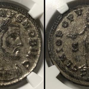 古代ローマ ヌムス銅貨 ガレリウス