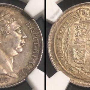 イギリス 1816年 6ペンス銀貨 ジョージ3世