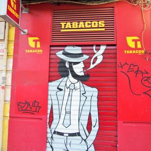 今日の1枚:スペインのタバコ屋で見た日本人
