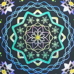 <スクラッチアート>自律神経を整えるスクラッチアート 四季の花を愉しむ曼荼羅