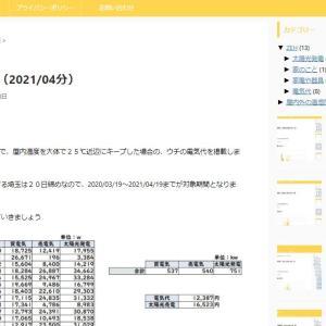 電気代(2021/04分)