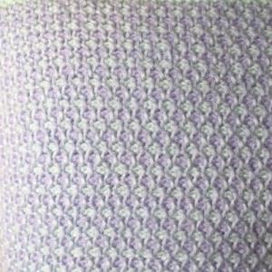 2色糸のアフガン編み その2 完成