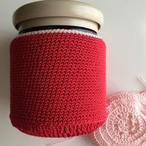 試し編み その5 (Red yarn & Red hook)