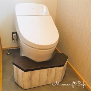 牛乳パックでトイレの踏み台