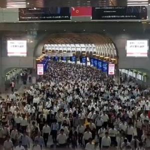 品川駅の混雑度の凄さをわかりやすく示した動画ツイートが海外でも話題に