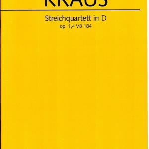 クラウス:弦楽四重奏曲 ニ長調 作品1の4「別離」VB.184