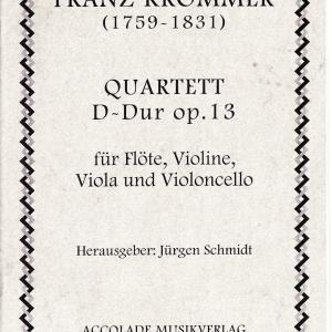 クロンマー:フルート四重奏曲二長調 作品13(第1番)