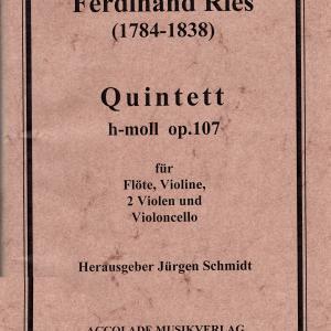 F. リース:フルート五重奏曲 ロ短調 作品107
