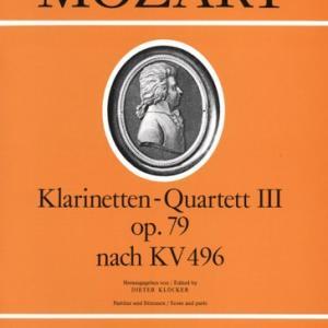 【K.496の変容】モーツァルト:クラリネット四重奏曲 ヘ長調(K.496の編曲)