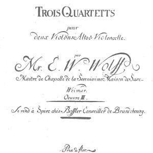 【ペトラルカの涙】E. W. ヴォルフ:弦楽四重奏曲 変ロ長調 作品3の1