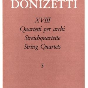 ドニゼッティ:弦楽四重奏曲 第5番 ホ短調 A.469