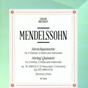 メンデルスゾーン:弦楽五重奏曲 第2番 変ロ長調 作品87