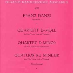【亜流の妙】ダンツィ:フルート四重奏曲 二短調 作品56の2
