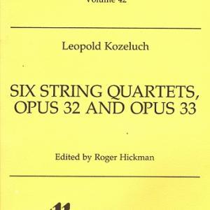 【秋の憂い】コジェルフ:弦楽四重奏曲 イ長調 作品33の2