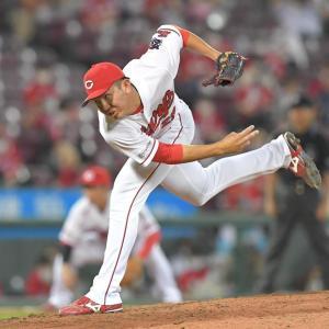 ケムナ、心臓バックバクで見事な投球。これが佐々岡監督のやりたい野球なんだろうねぇ。