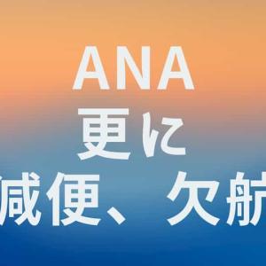 ANA 大幅減便、欠航