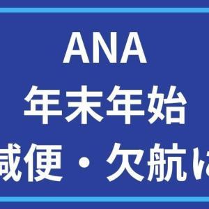 ANA 新型コロナウイルスの影響で年末年始は運休・減便を予定