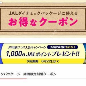 JAL 枚数限定 最大30,000円OFF「JALダイナミックパッケージ」夏旅割引クーポン