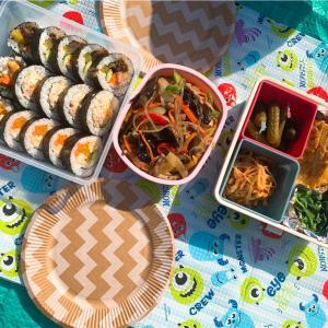 ピクニック日和☺︎お弁当にはキンパ