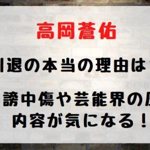 高岡蒼佑引退の本当の理由は?誹謗中傷や芸能界の圧力内容が気になる!