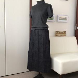 デニムのスカート・完成