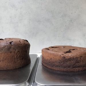 【ガトー・ショコラ】型のサイズの違いでの焼き上がり比較