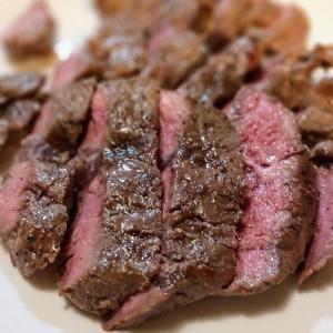 ステーキを弱火で焼いてみた