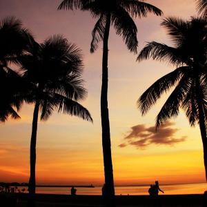 南の島 フィリピンの夕景