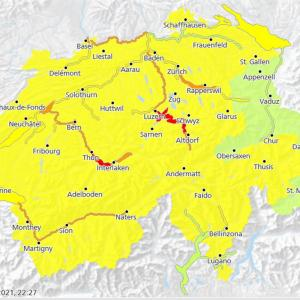 スイスを襲う嵐!- 洪水・大雨警報発令中