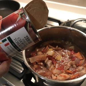少しこだわったチキントマト煮の作り方