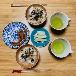 いつの日かの朝ごはん。たまにはお米もありかもしれない。
