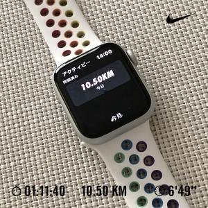 やっと、10km走れました!